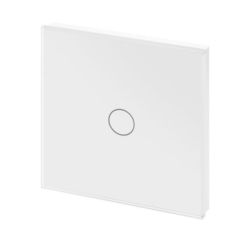 RetroTouch Touch On/Off Light Switch 1 Gang 1 Way White Glass PG 00440